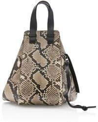 Loewe - Hammock Small Leather-trimmed Python Bag - Lyst