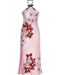 Rodarte - Floral Silk Satin Midi Slip Dress - Lyst