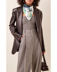 Givenchy Floral-print Silk Scarf - Blue