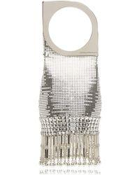 Paco Rabanne Op'art Mini Chainmail Clutch - Metallic