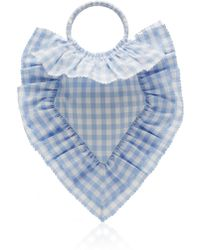 The Vampire's Wife Scallop Frill Sacred Heart Bag - Blue