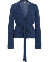 Brock Collection Samira Belted Cashmere Cardigan - Blue