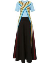 Loewe - Striped Rib-knit Maxi Dress - Lyst
