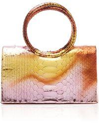 Nancy Gonzalez Regina Python Top Handle Bag - Multicolour