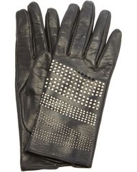 Lanvin - Short Gloves With Perforated Logo - Lyst