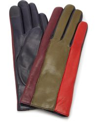 Maison Fabre - Debby Color-blocked Leather Gloves - Lyst