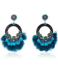 Ranjana Khan - Embellished Circle Earrings - Lyst