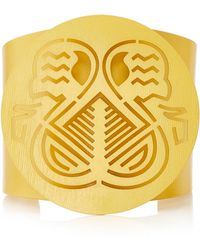 Paula Mendoza - Pacha Gold-plated Brass Cuff Bracelet - Lyst