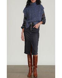 Veronica Beard Collina Cable-knit Vest - Blue