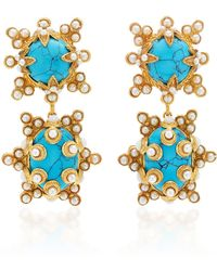 Christie Nicolaides Lucia Turquoise Earrings - Blue