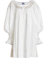 Thierry Colson Valeska Embroidered Cotton Mini Dress - White