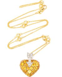 Gioia 18k Yellow Gold, Platinum And Multi-stone Necklace
