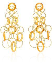 Buccellati Hawaii 18k Gold And Carnelian Earrings - Metallic