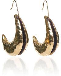 Marni - Split Crescent Gold-tone Drop Earrings - Lyst