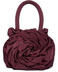 STAUD Rose Satin Top Handle Bag - Purple