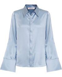 Dorothee Schumacher Sense Of Shine Silk Top - Blue