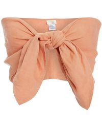 Posse Micky Knot-detailed Bandeau Top - Pink