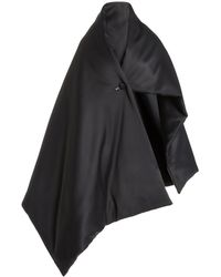 Proenza Schouler Padded Matte Satin Blanket - Black