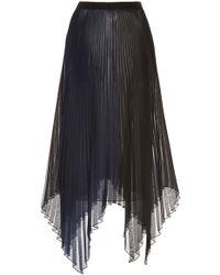Marina Moscone - Plissé Organza Voile Skirt - Lyst