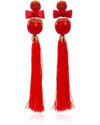 Ranjana Khan - Embellished Tassel Earrings - Lyst