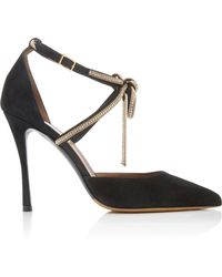 Tabitha Simmons - Marilyn Bow-embellished Suede Pumps - Lyst
