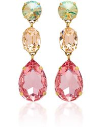 Roxanne Assoulin - Hip Hop But Not Gold-plated Swarovski Crystal Earrings - Lyst