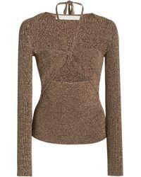 Jonathan Simkhai Alexia Cutout Ribbed-knit Top - Brown