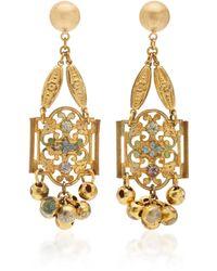 Lulu Frost Gold-plated Crystal Earrings - Metallic