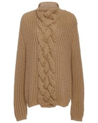 Hensely - Cableknit Turtleneck Sweater - Lyst
