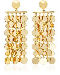 Oscar de la Renta | Hammered Gold-tone Circle Drop Earrings | Lyst