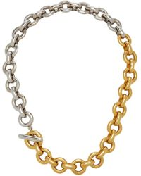 Ben-Amun Two-tone Gold-plated Chain Necklace - Metallic