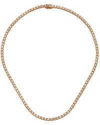 Eva Fehren Line 18k Rose Gold And Diamond Choker - Pink