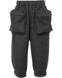 Miu Miu Wool Shorts - Gray