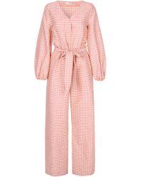Stine Goya Beverly Long Sleeve Straight-leg Jumpsuit - Pink