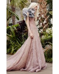 7380d405b8c Vera Wang Ceres A-line Tulle Gown With Corset Bodice - Lyst