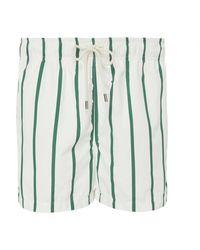 Solid & Striped The Classic Striped Swim Trunks - Blue