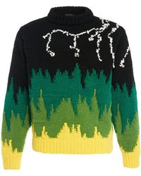 Prada Jacquard-knit Sweater - Black