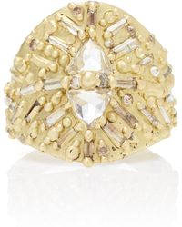 Polly Wales - One-of-a-kind Trillion Diamond Shield Ring - Lyst