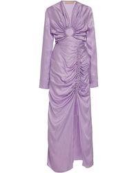 Matériel Leo Two Piece Gown - Purple
