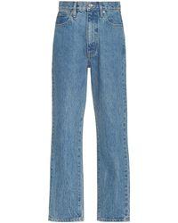SLVRLAKE Denim Beatnik Ankle Rigid High-rise Slim-leg Jeans - Blue