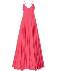 Jacquemus La Robe Manosque Tiered Chiffon Maxi Dress - Pink