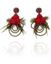 Ranjana Khan - Mangueira Floral Embellished Earrings - Lyst