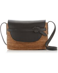 Cesta Collective Sisal And Leather Crossbody Bag - Brown