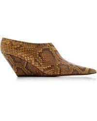 Proenza Schouler Slant Snake-effect Leather Mules - Multicolour