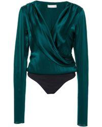 Caroline Constas Berdine Bodysuit - Green