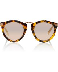 7985e4d6289a Karen Walker - Harvest Rose Gold-tone Metal And Tortoiseshell Acetate  Sunglasses - Lyst