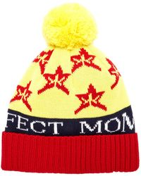 Perfect Moment Star Pom-pom Wool-blend Beanie - Yellow