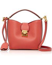 Mark Cross Mini Leather Murphy Bucket Bag - Pink