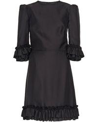 The Vampire's Wife Festival Ruffled Silk-taffeta Mini Dress - Black