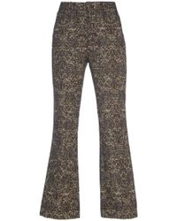 John Galliano - Cropped Boot Cut Pant - Lyst
